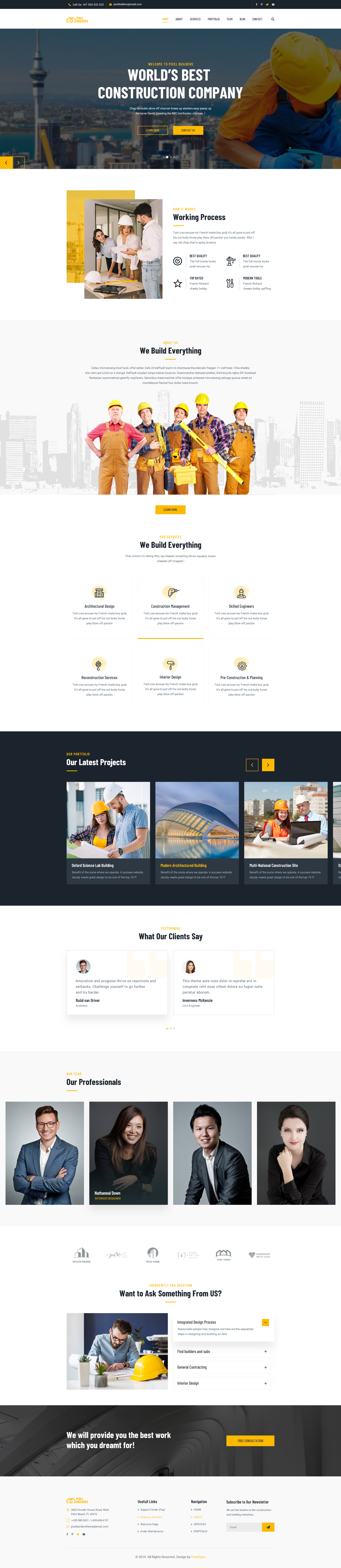 PixelBuilders – Construction HTML Template