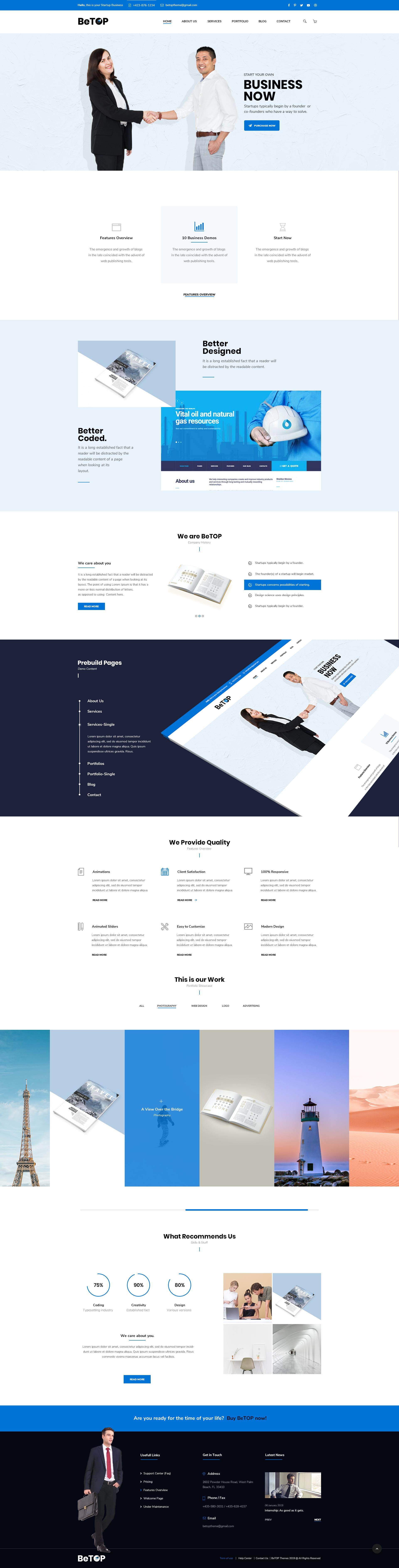 BeTOP – Multipurpose HTML5 Business Template